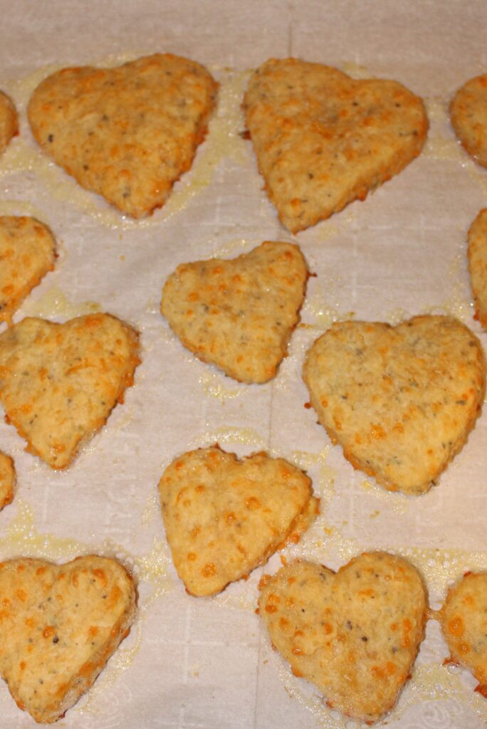 Parmesan and Cheddar Biscuits Hot from Oven