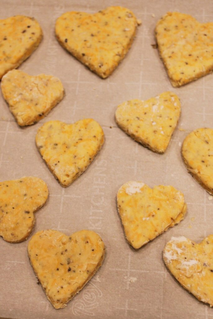 Parmesan and Cheddar Biscuits Ready to Bake