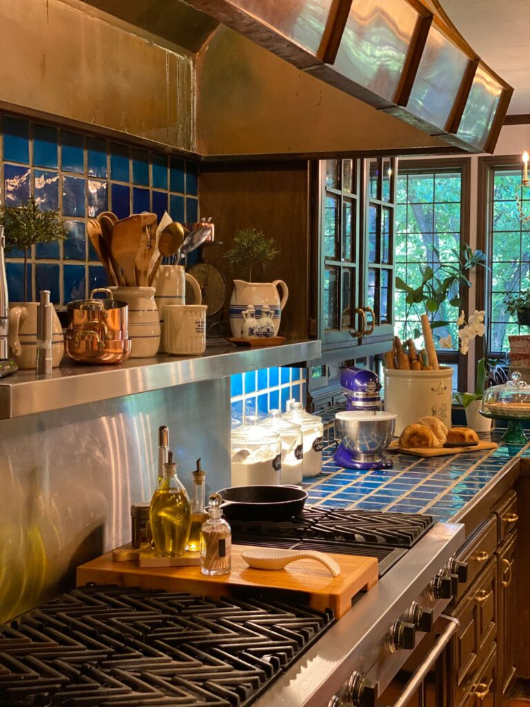 Beautiful kitchen with copper hood