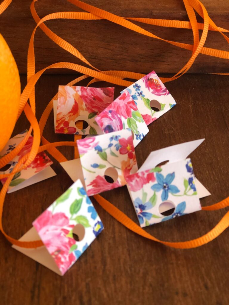 Love this colorful paper and ribbon, perfect for making tags