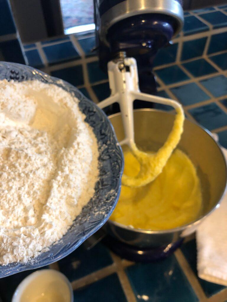 Teatime Sugar Cookies adding dry ingredients