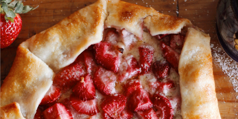 Strawberry Galette Ready to Eat
