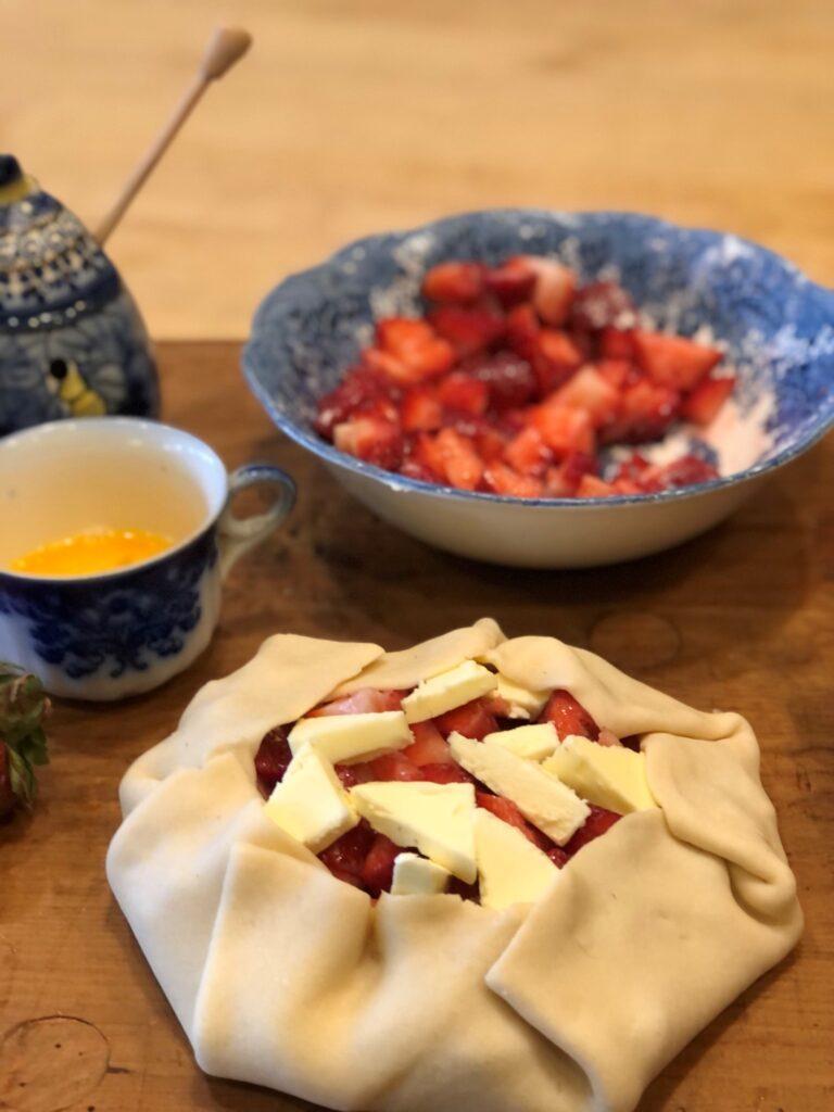 Strawberry Galette-Preparing the Egg Wash