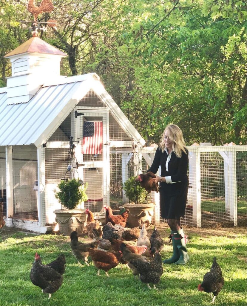 Emily at Elevengables and her flock