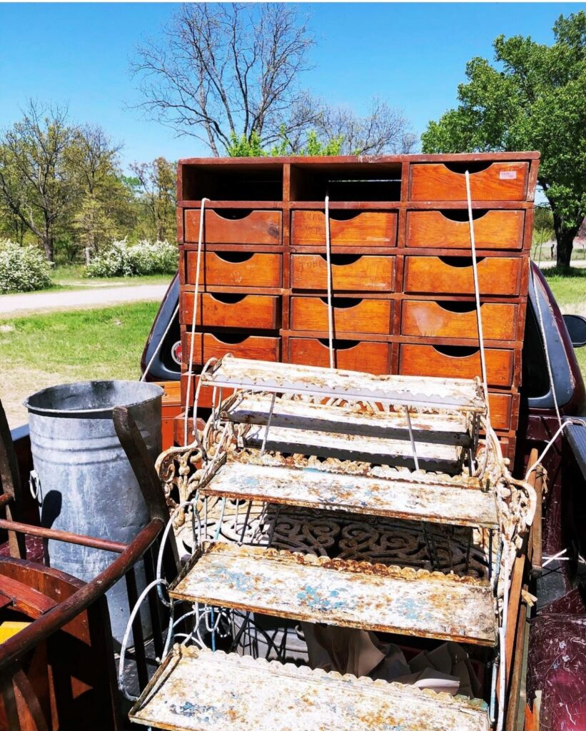 A truckload of vintage estate sale finds